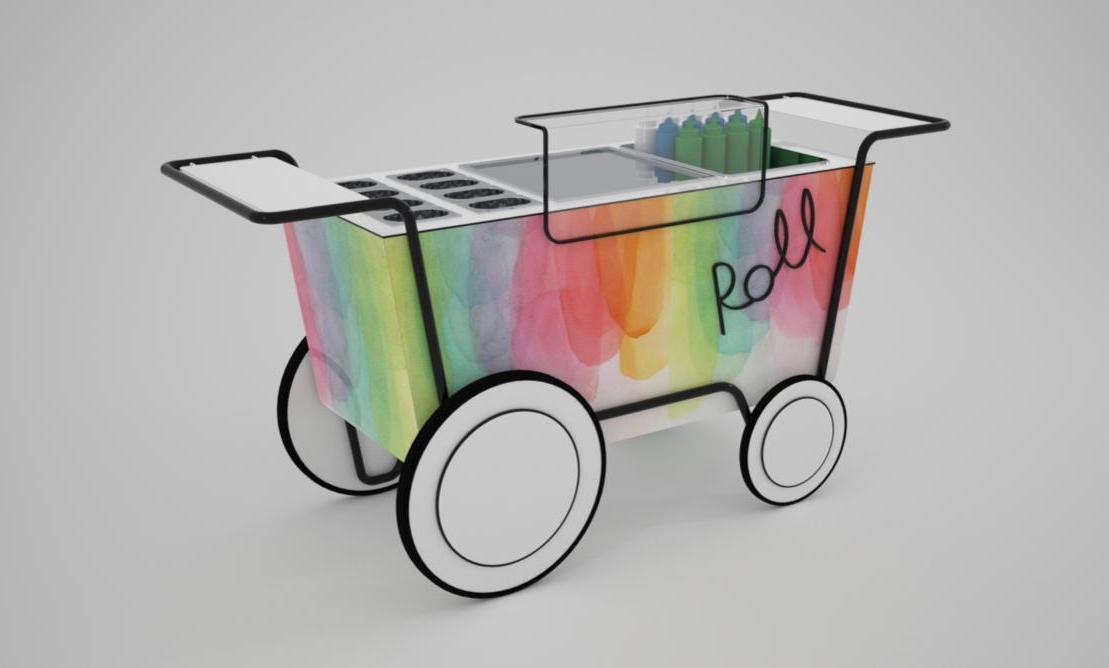 Roll carrello gelato