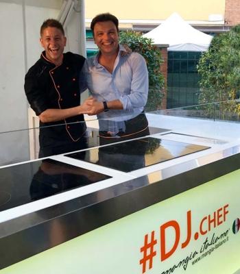 Simone Finetti con Filippo Santini e DJ.Chef